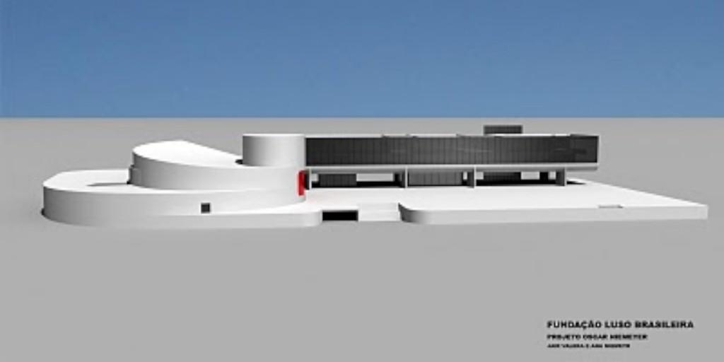 Nova sede da Fundação Luso-Brasileira ainda começou a ser construída mas as obras foram abandonadas