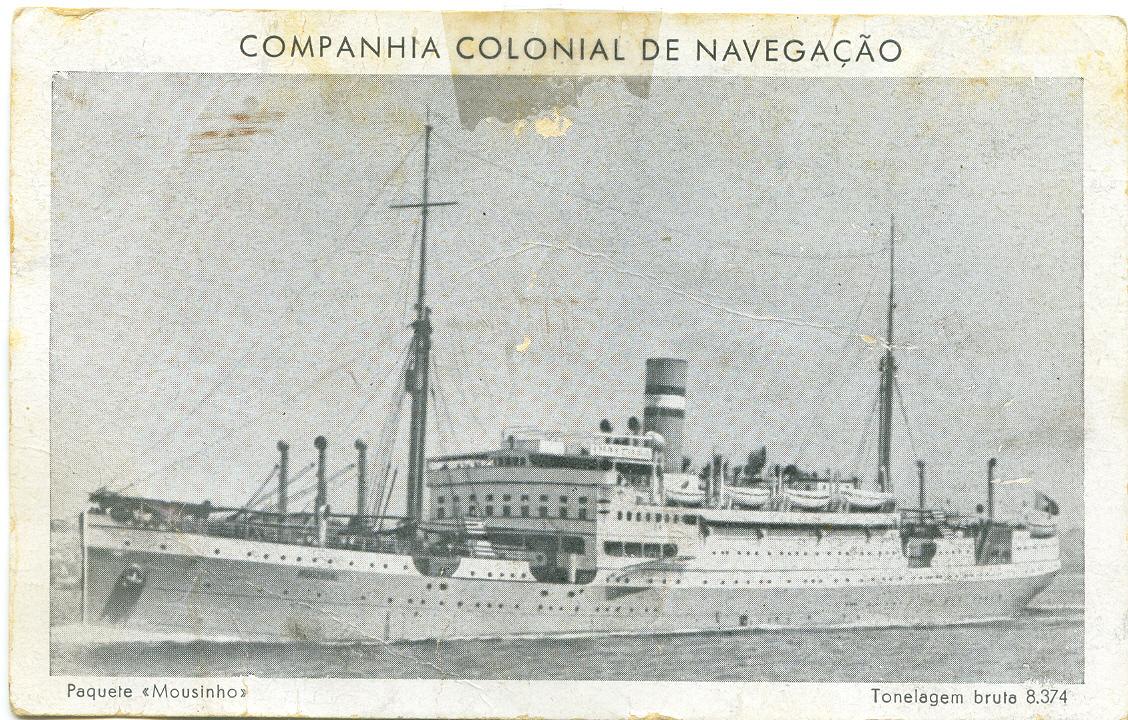 Entre Génova e Lisboa a viagem fazia-se no paquete <i>Mousinho</i>. A viagem era dura, por causa da passagem pelo Estreito de Gibraltar
