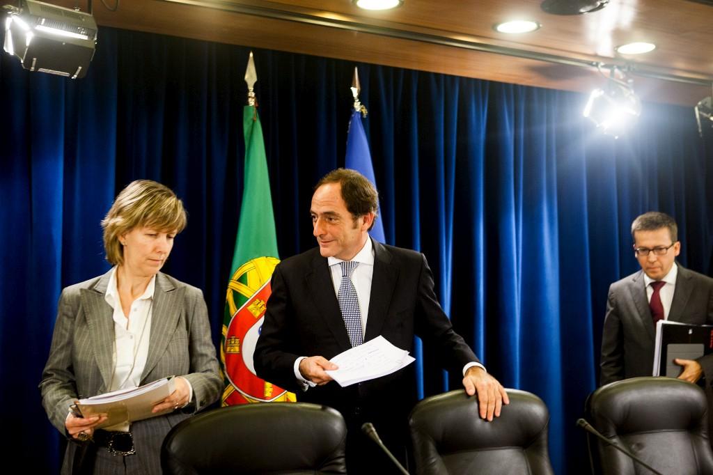 Paulo Portas e a Ministra das Finanças