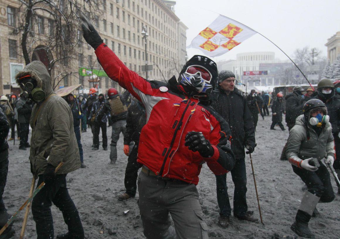 Espectaculares imágenes de los disturbios en Kiev 821724?tp=UH&db=IMAGENS