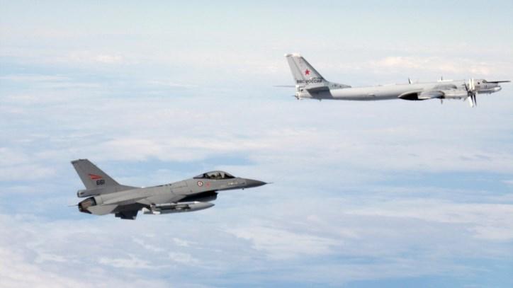 F-16 portugueses escoltaram bombardeiros russos que sobrevoaram o Atlântico